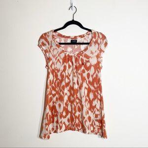 Anthro Deletta Ikat Print Round Neck T-shirt